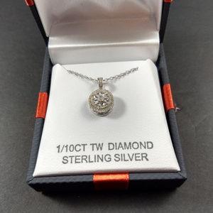 Diamond 1/10CT TW Diamond Sterling Pendant NIB